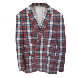 Lauren Ralph Lauren single breated long-sleeve check pattern blazer