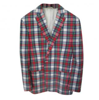 Lauren Ralph Lauren single breasted long-sleeve check pattern blazer