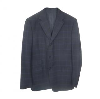 Paul Smith black check patterned single breasted blazer