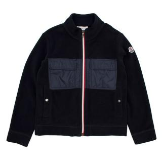 Moncler Kids Navy Blue Fleece