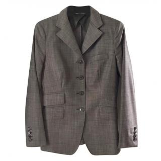 MaxMara brown wool/silk jacket