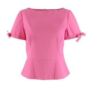 Christian Dior Fuchsia Pink Cotton Top