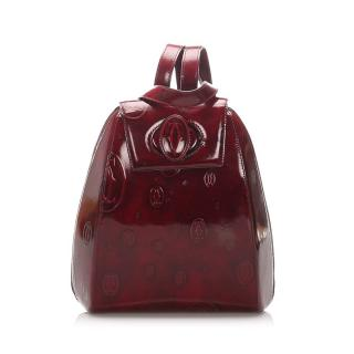 Cartier Leather Panthere Bordeaux Monogram Backpack
