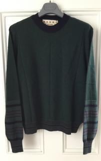 Marni forest green cashmere jumper
