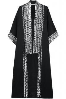 Temperley black Luminary Sequin embellished satin-crepe kimono