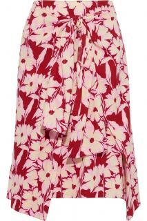 Joseph Clive tie-front floral cotton poplin skirt