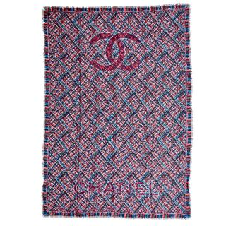 Chanel cashmere multicoloured patterned stole