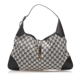 Gucci Monogram Monotone Canvas Jackie Hobo Bag