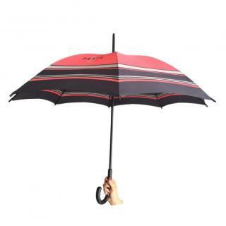 Yves Saint Laurent vintage red & navy umbrella