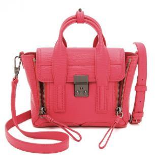 3.1 Phillip Lim Rasperry leather Pashli Mini satchel