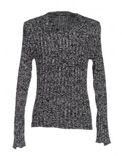 Dolce & Gabbana black & white knitted cotton blend pullover top