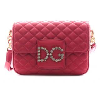 Dolce & Gabbana Pink Quilted Millenials Shoulder Bag