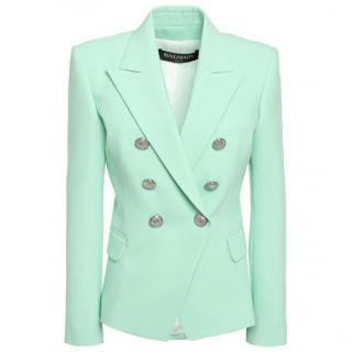 Balmain mint wool blazer jacket