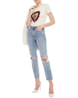 Dolce & Gabbana embellished heart T-shirt