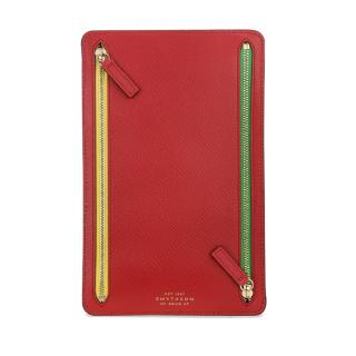 Smythson Multicoloured Panama Zip Currency Case