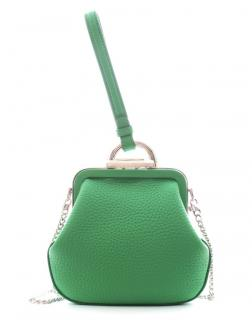 Ermanno Scervino green leather wristlet bag