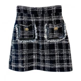 Elisabetta Franchi Tweed Mini Skirt