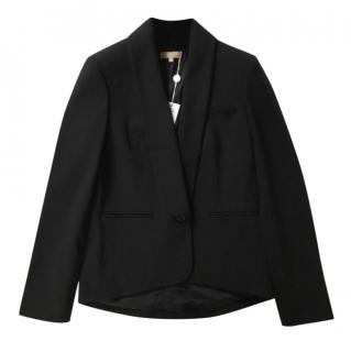 Michael Kors Wool Black Tailored Jacket