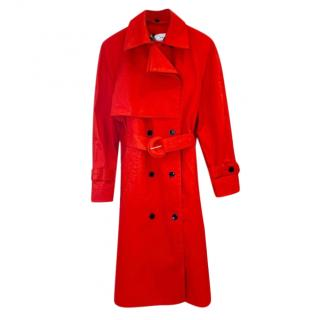 Proenza Schouler Red Double Breasted Trench Coat