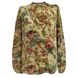 Dolce & Gabbana Tapestry Floral Print Blouse