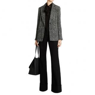 Diane Von Furstenberg Black Paint Splash Print Jacket