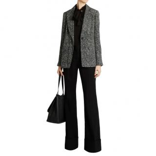 Diane Von Furstenberg Black Paint Splash Print Jacket