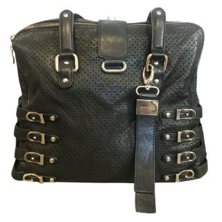 Jimmy Choo Blythe black leather shoulder bag