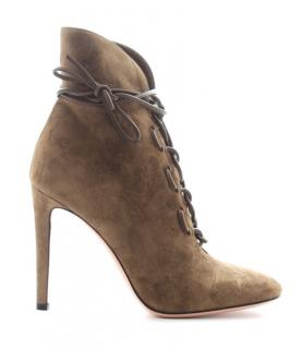 Gianvito Rossi empire suede ankle boots