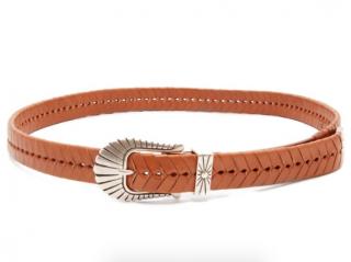 Isabel Marant Tan Braided Leather Belt