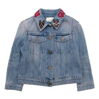 Gucci Princess Embroidered Denim Jacket