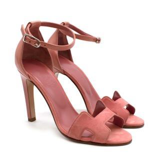 Hermes Pink Premiere 105 Sandals