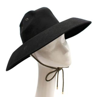 Palm Angels Black Rabbit Felt Western Hat