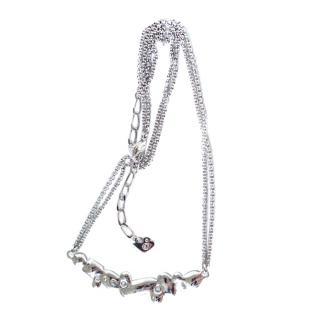 Swarovski silver & crystal cluster necklace