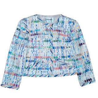 Chanel multicoloured Lesage 18S fantasy tweed jacket