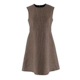 Louis Vuitton Houndstooth Wool Sleeveless Dress