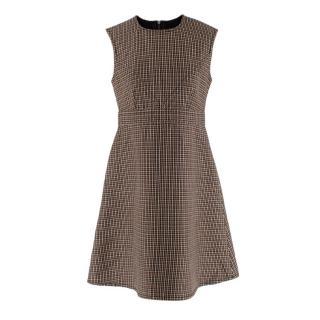 Louis Vuitton Houndstooth Wool Sleeveless Dress