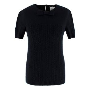 Chanel Black Cashmere & Silk Knitted Jumper