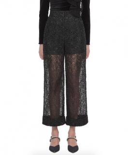 Self Portrait Black Sequin Circle Lace Pants
