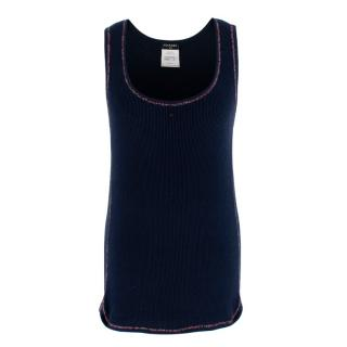 Chanel Navy CC Embellished Vest