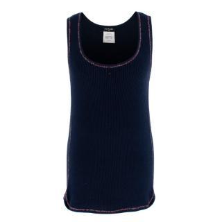 Chanel Navy CC Embellished Vest