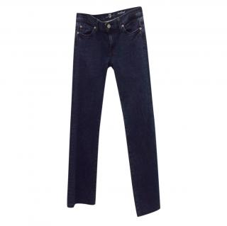 For All Mankind mid-waist bootcut denim jeans
