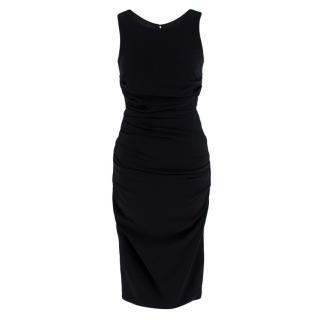 Dolce & Gabbana Ruched Black Sleeveless Dress