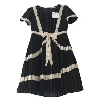 Red Valentino black & white lace pleated dress