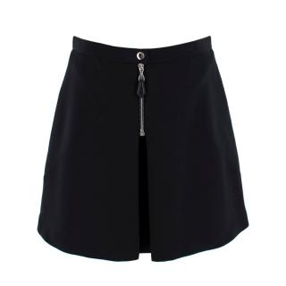 Louis Vuitton Black Pleated Zip Detail Skirt