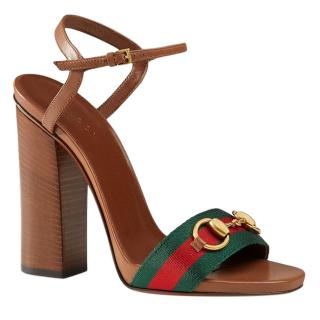 Gucci Webstripe Horsebit Sandals