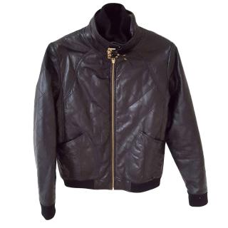 Marc by Marc Jacobs black lambskin quilted biker jacket