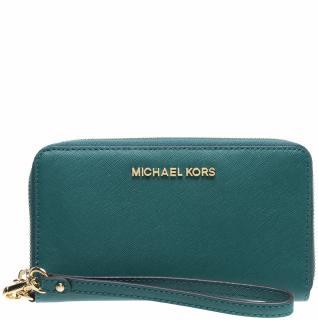Michael Kors jet set emerald leather wallet