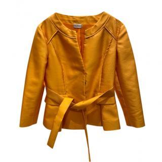 Philosophy by Alberta Feretti orange silk blend belted jacket