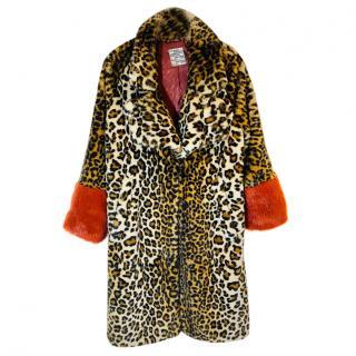 Baum und Pfergarten faux fur leopard print coat
