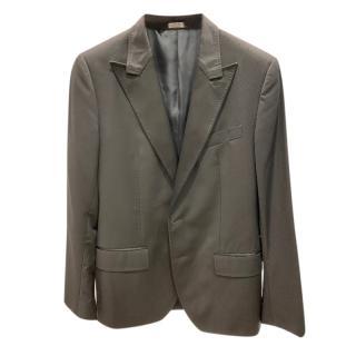 Dolce & Gabbana black wool & silk blend blazer